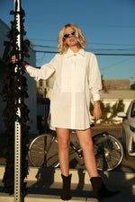 Oversized Tux Shirt, White