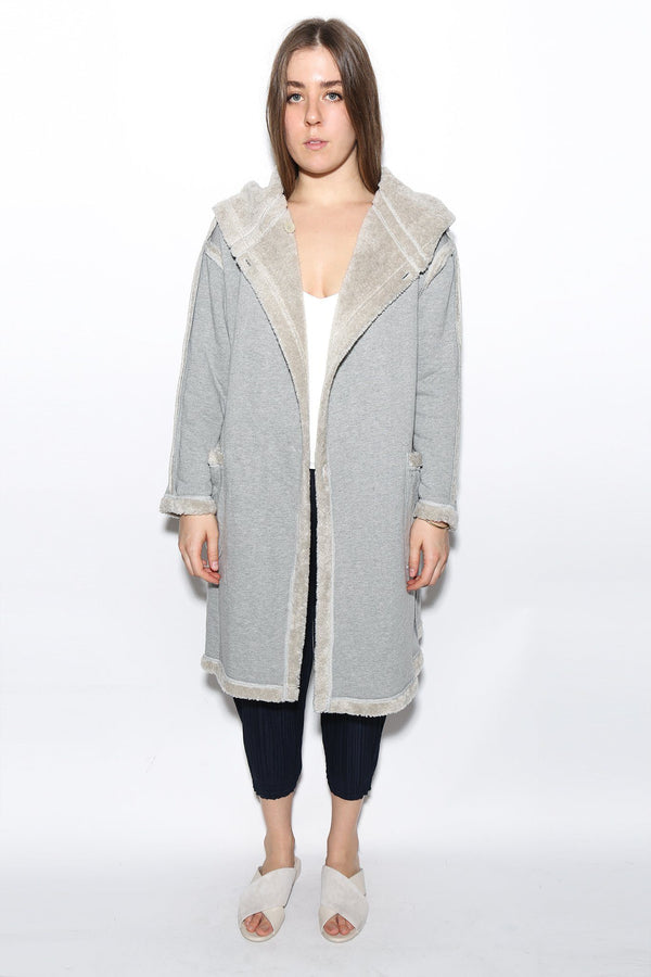 Antipast Fuzzy Hooded Coat, Available in Two Color Options Coats + Jackets