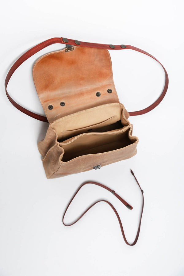 Cherevichkiotvichki Small Lock Bag with New Handle, Natural Bags