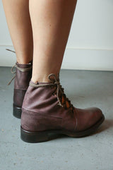 Cherevichkiotvichki Asymmetric Factory Boot Goodyear, Purple Boots
