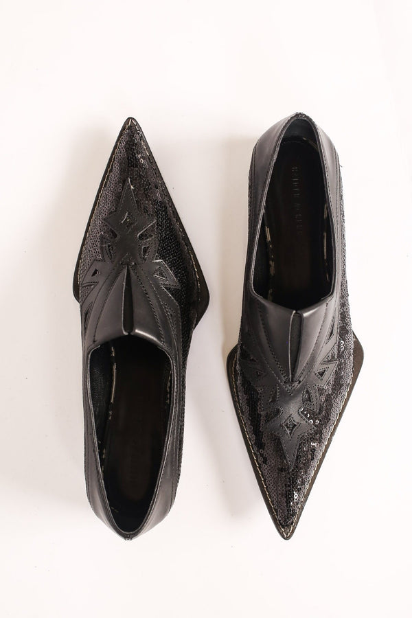 Haider Ackermann Laser-Cut Loafer, Brell Black + Equinox Flats