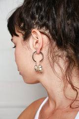 Pearl Creol Earrings, Silver