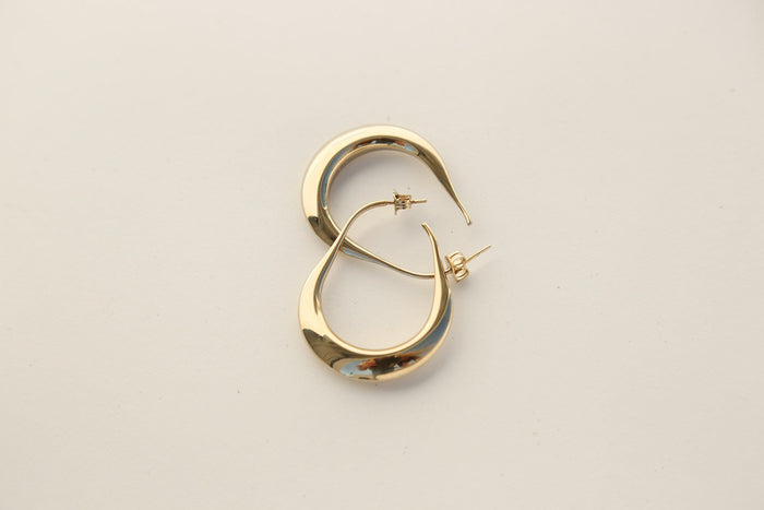Hoop Drop Earrings, Gold, Jewelry, Lemaire, Mona Moore