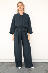 Maxi Shirt, Midnight Blue, Tops, Lemaire, Mona Moore