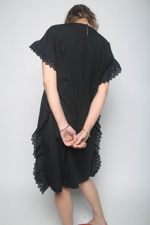 Leur Logette Leur Logette Side Frill Dress, Black Dresses