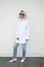 Lorod Classic Shirt in Poplin, White Tops