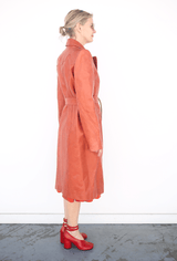 Long Coat in Horween Leather, Rust, Jackets + Coats, Lorod, Mona Moore