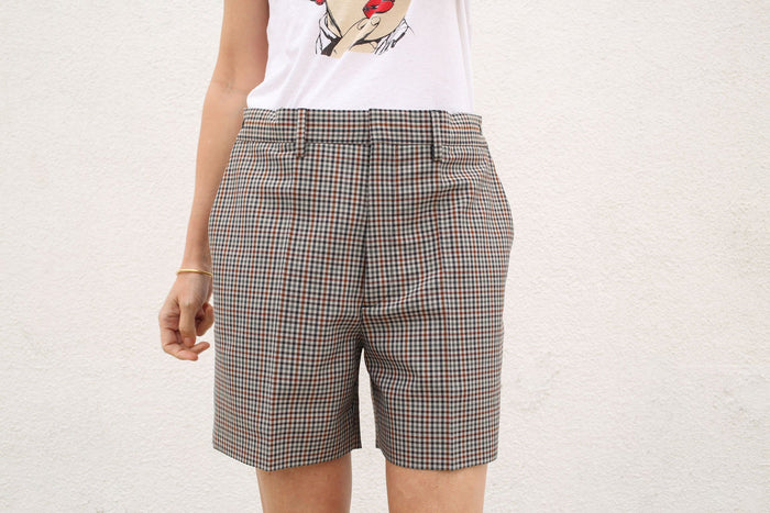 Micro Check Short, Multicolor Check, Bottoms, Maison Margiela, Mona Moore - Mona Moore