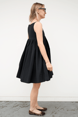Virginia Short Dress with Full Gathered Skirt, Black, Dresses + Jumpsuits, Molly Goddard, Mona Moore - Mona Moore