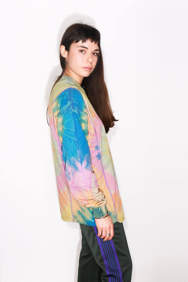 Needles 5 Cut Long Sleeve Tie Dye Tee, Multicolor Tops