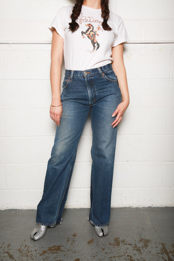 RE/DONE Loose Trouser Jeans, Indigo Bottoms