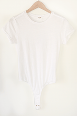 Short Sleeve Bodysuit, Optic White