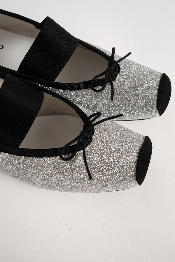 Repetto Caterin Ballerina, Argent Flats