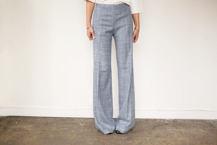 Alba Palazzo Pant, Light Blue, Bottoms, ROXHERM, Mona Moore