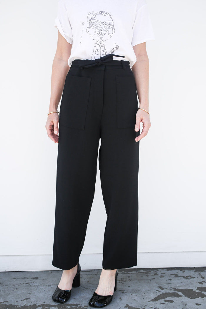 Wide Pants, Black, Bottoms, Sara Lanzi, Mona Moore - Mona Moore