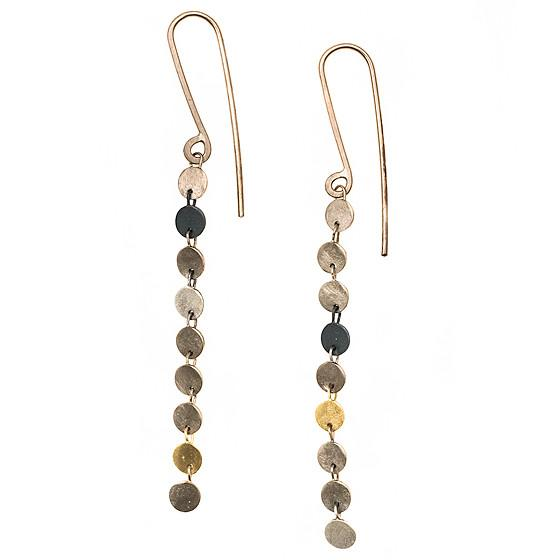 18k White & Yellow Gold Earrings