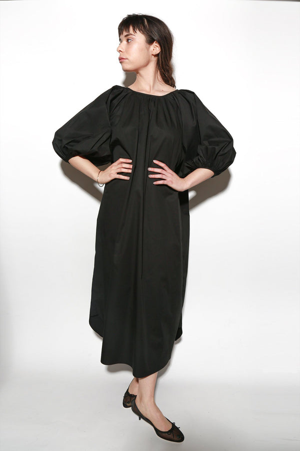 ARCH THE Balloon Sleeve Dress, Black Dresses + Jumpsuits