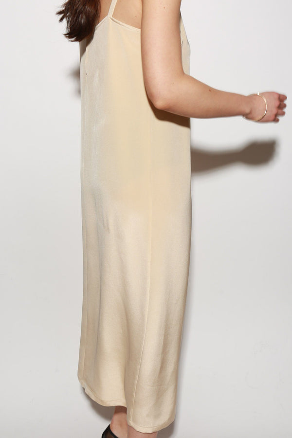 ARCH THE Silk Slip Dress, Tan Dresses