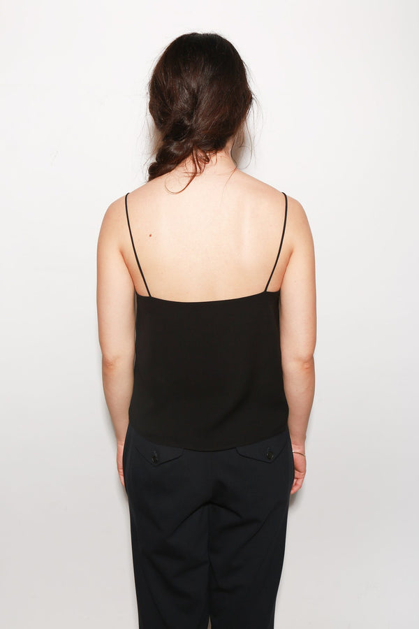 ARCH THE Silk Tank Blouse, Black Tops