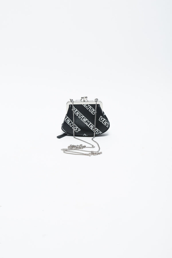 Vetements Printed Mini Purse, Black Bags