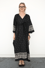 Kaftan Dress, Black + Cream, Dresses + Jumpsuits, Visvim, Mona Moore
