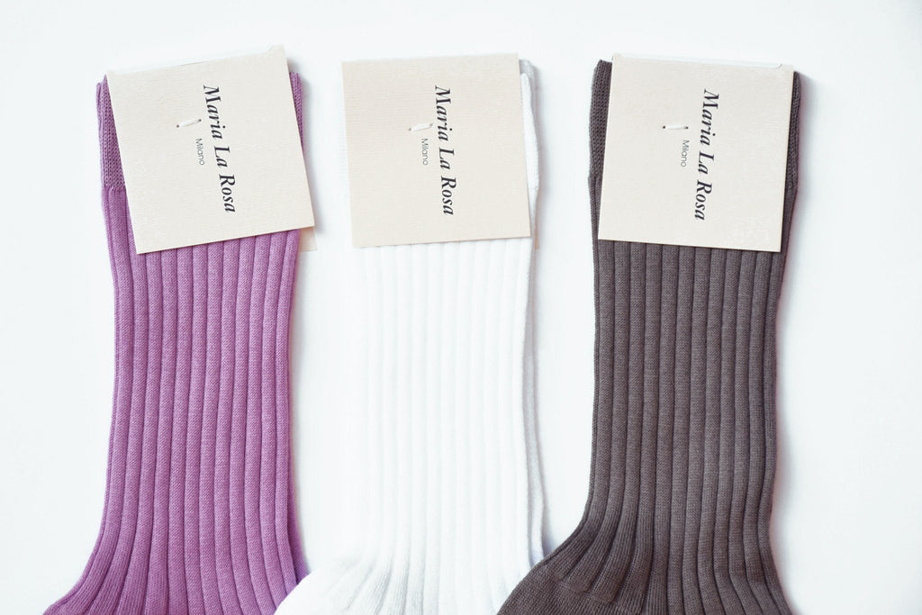 Cotton Rib Mid-Calf Socks