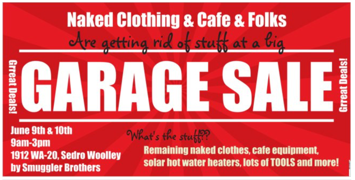 Garage Sale June 9, 10