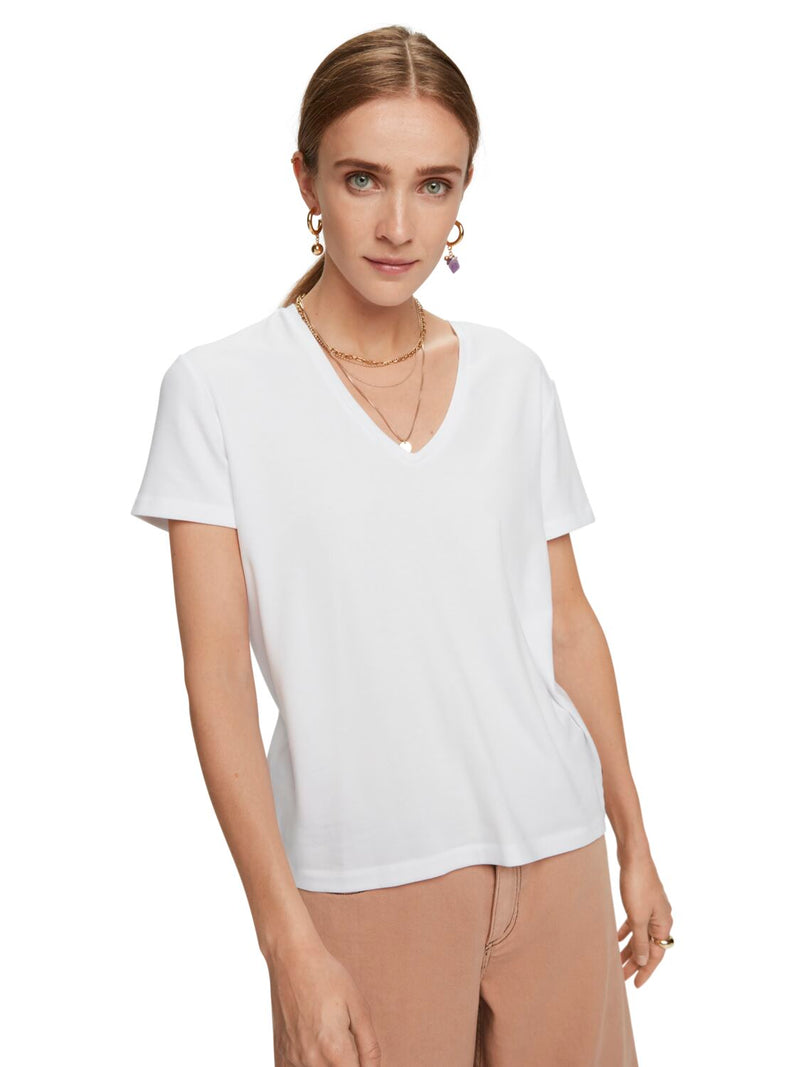 Classic Stretch V-Neck Tee