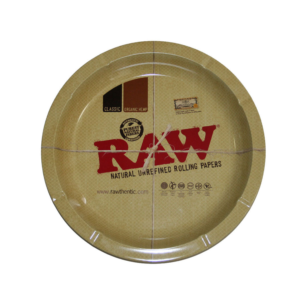 RAW Round Rolling Tray and Ashtray Combo