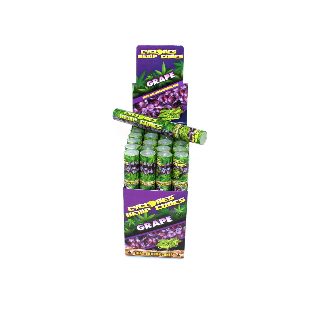 Cyclones  Hemp Cones XTRA SLO with  - Grape