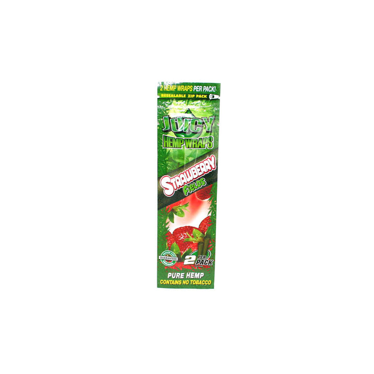 Juicy Hemp Wraps - Strawberry Fields 2/pack