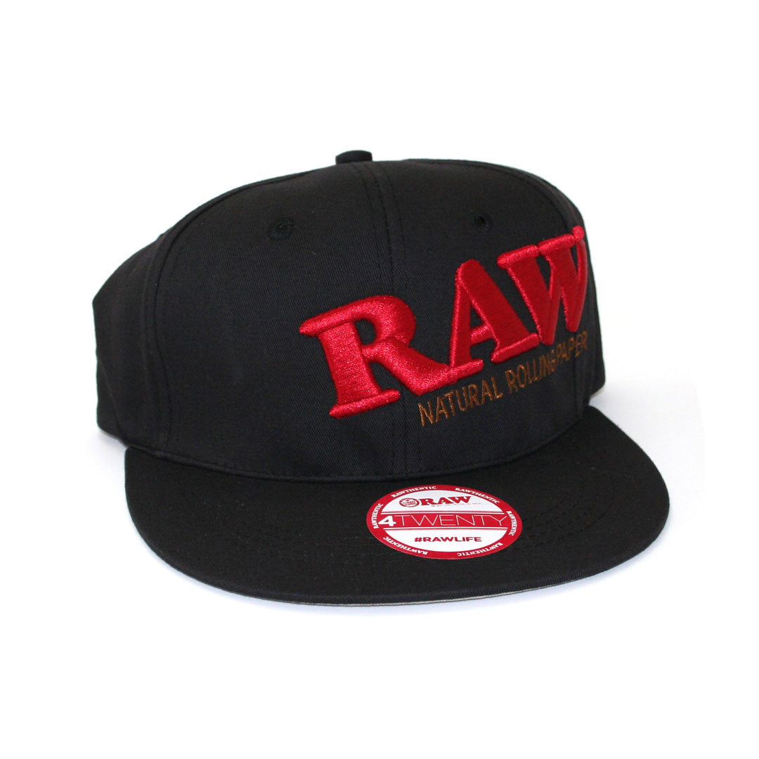 RAW HAT - Black Flex Fit Cap (Large-XLarge)