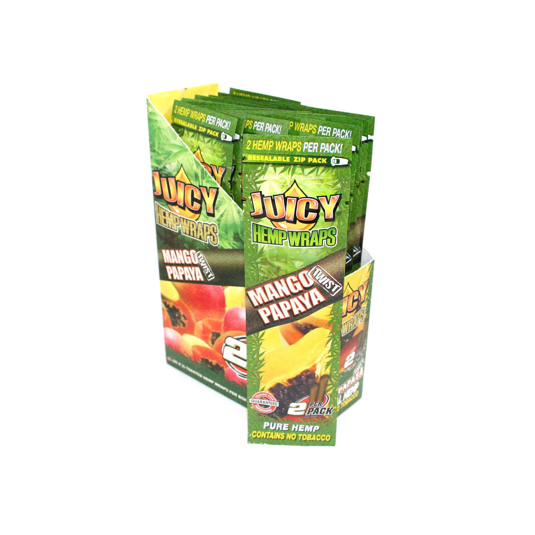 Juicy Hemp Wraps - Mango Papaya 2/pack