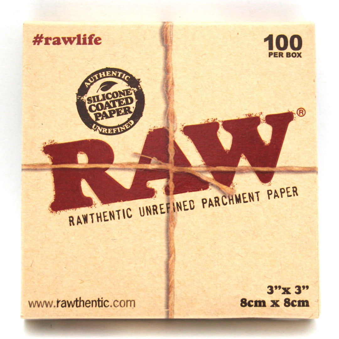 RAW Parchment Paper 3 X 3  - 100 sheets/PACK