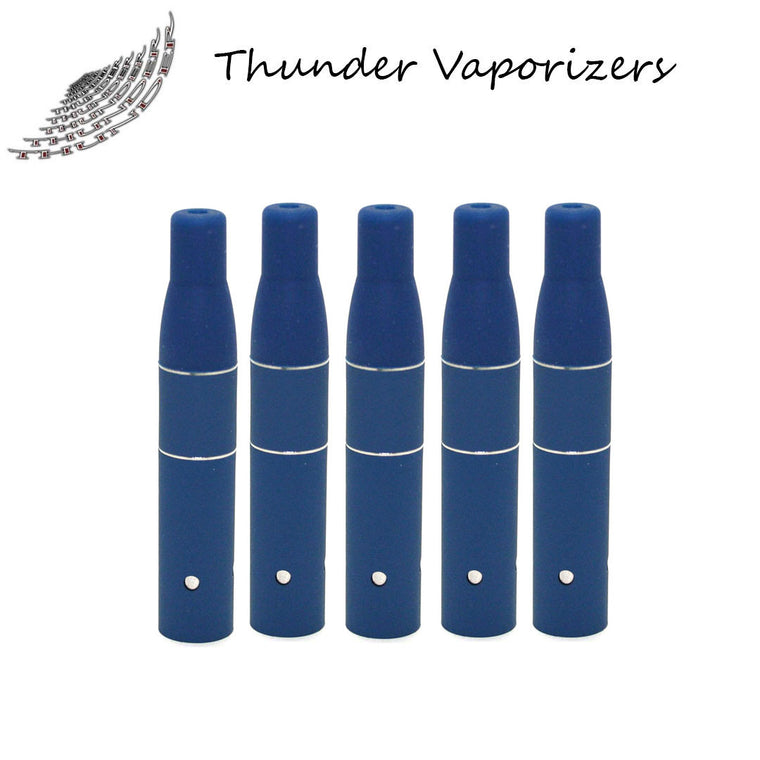 Thunder Vaporizer:  3 in 1 Replacement Heating Coils w/Mouthpiece (5pack-Matte Blue)