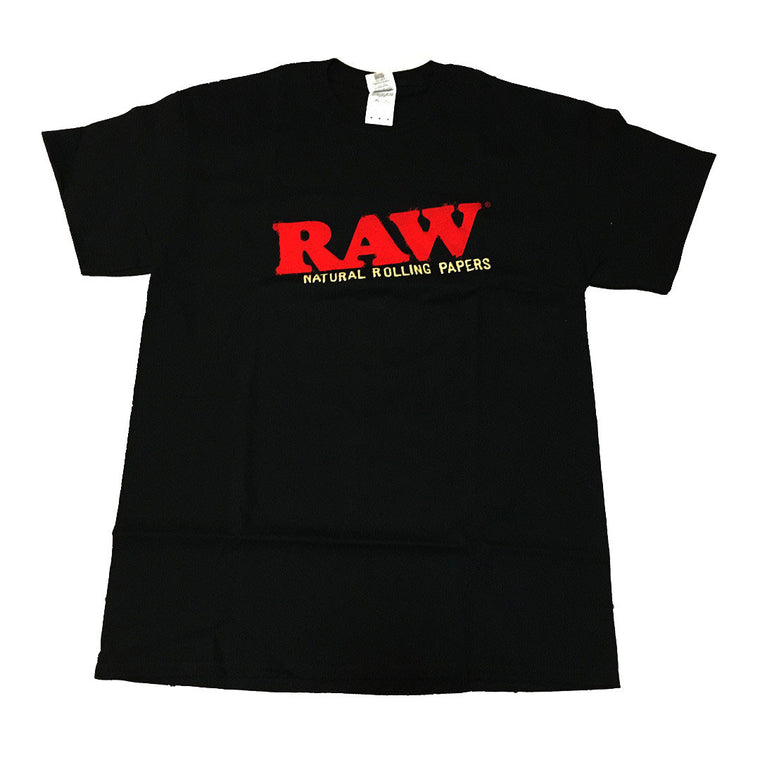RAW Men's T-Shirt  'RAW LIFE LIVING' - Black