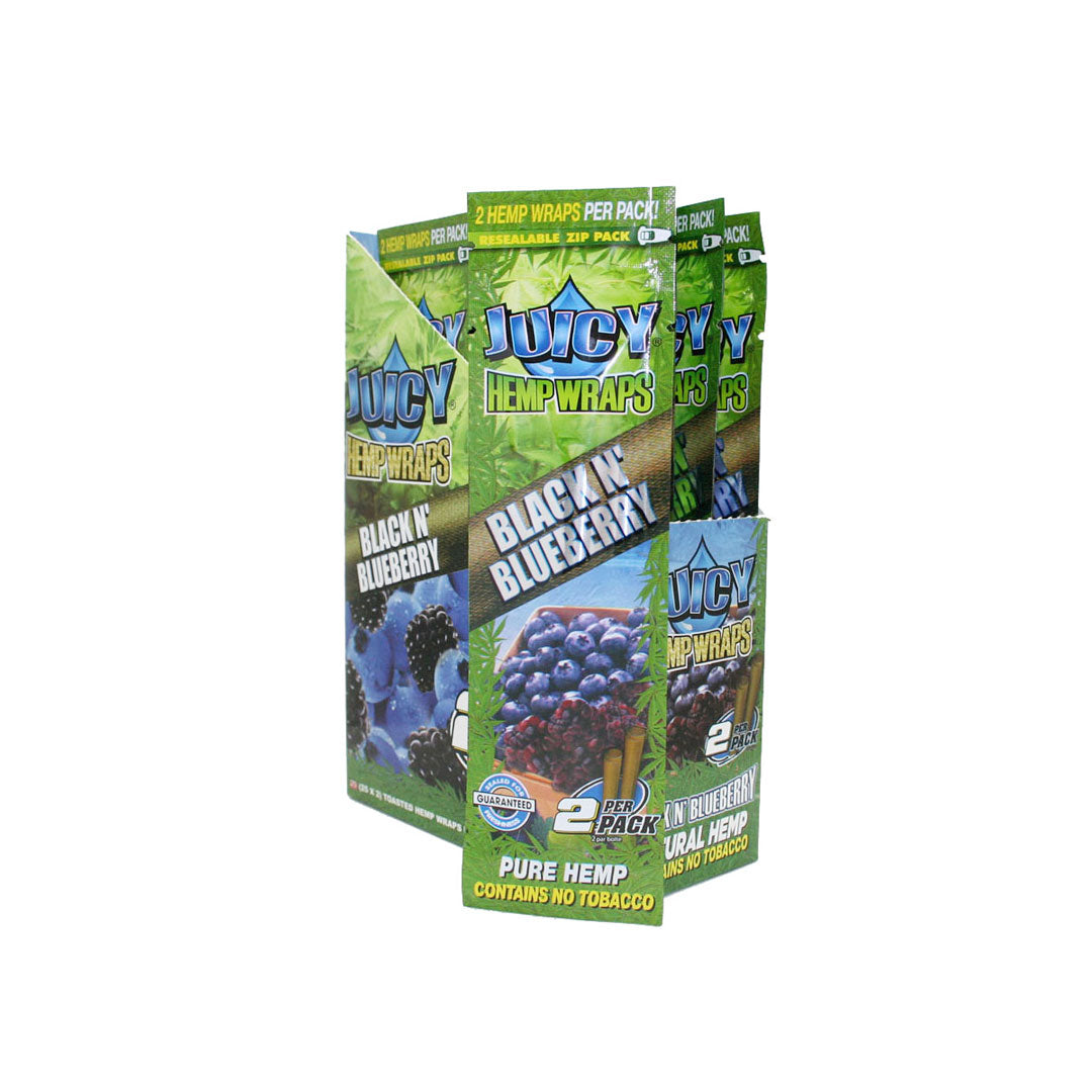 Juicy Hemp Wraps - Black N' Blueberry 2/pack
