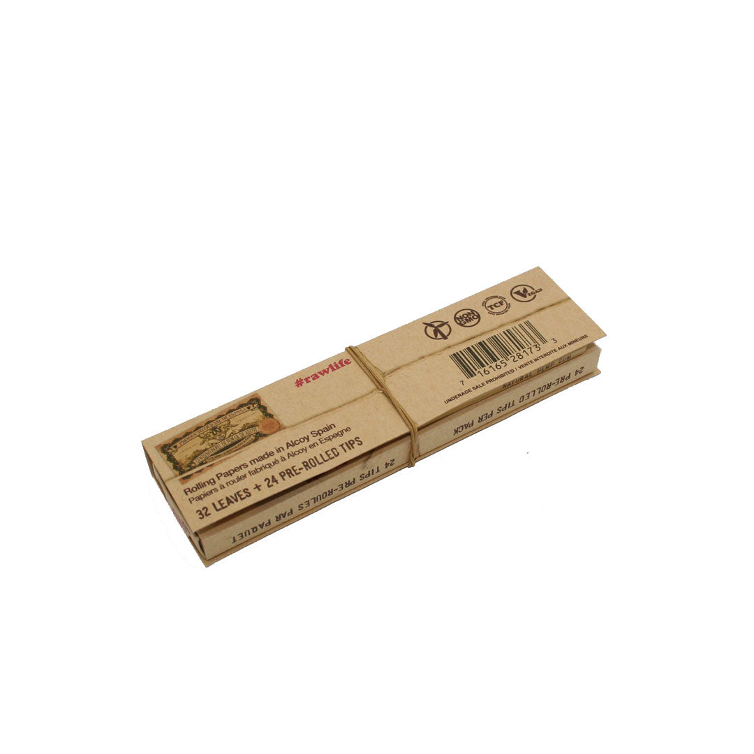 RAW Unrefined Classic King Size Slim Masterpiece Connoisseur + Pre-rolled Tips