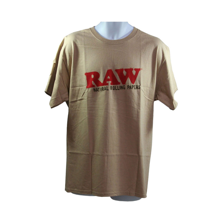 RAW Men's T-Shirt 'Organic Hemp' - Tan