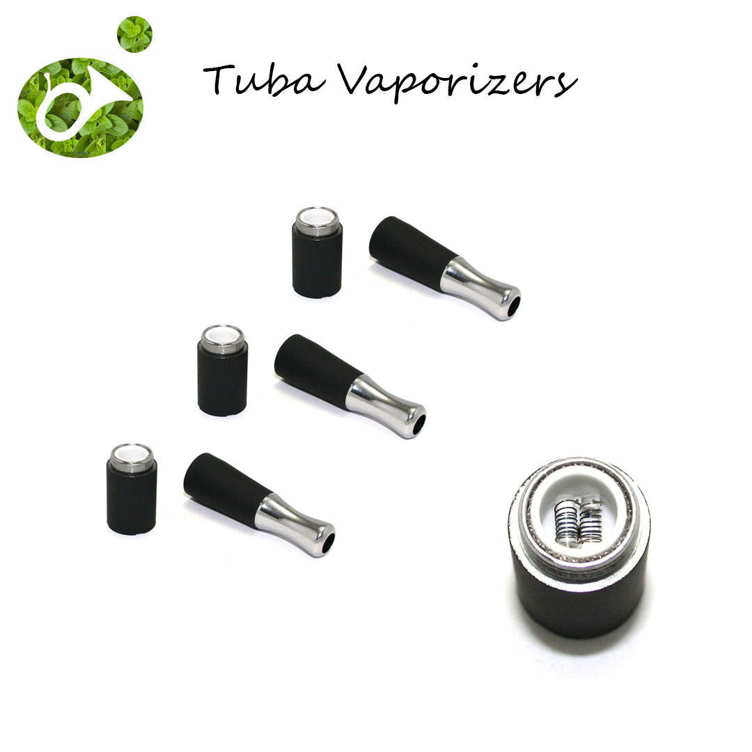 Tuba Vaporizer Replacement - Dual Quartz Rod Vaporizer (3 Pack)
