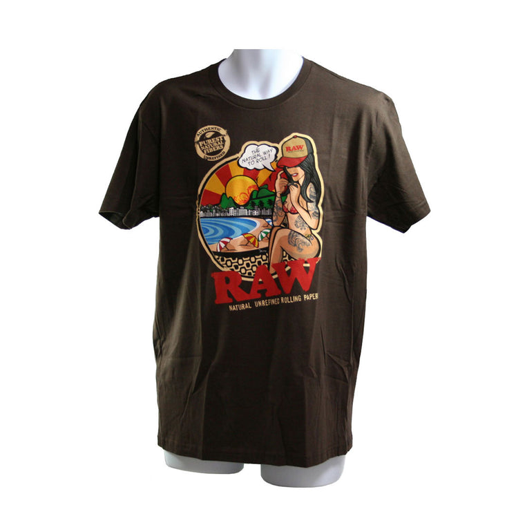 RAW Men's T-Shirt Brazil - Chocolate Brown