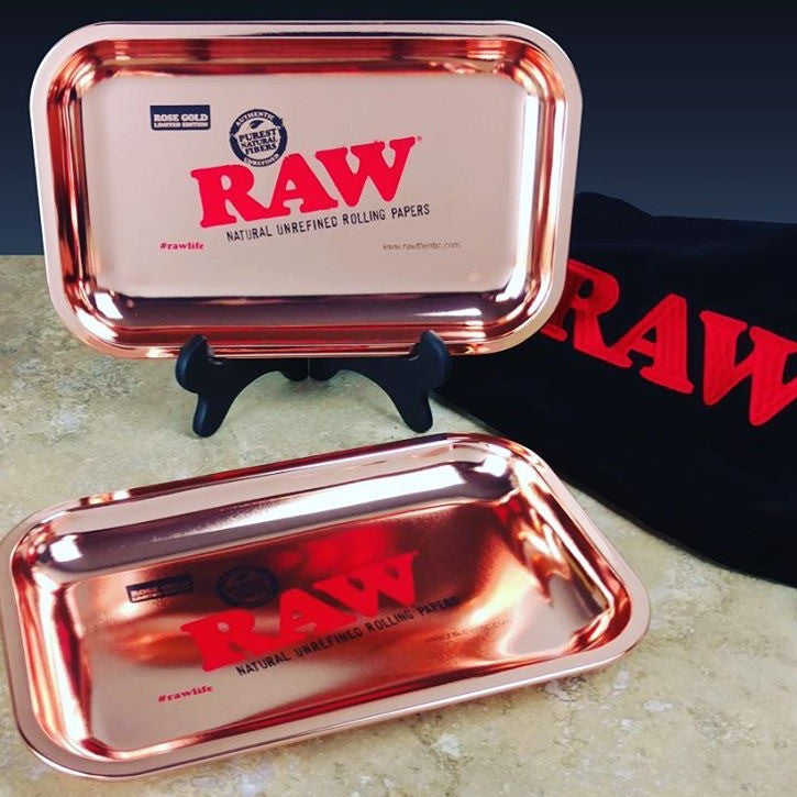 RAW Rose Gold Rolling Tray