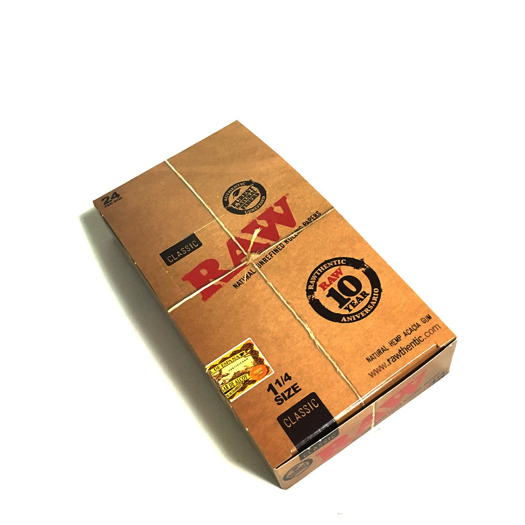 RAW Unrefined Classic Hemp Papers 1-1/4