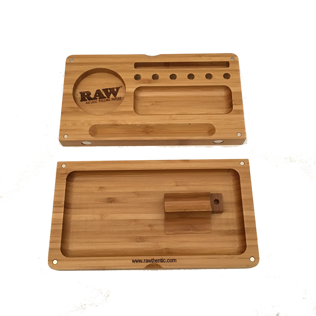 RAW Rolling Tray - Bamboo Backflip Magnetic tray