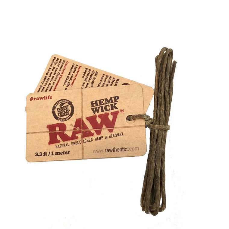 RAW Hemp Wicks - 1 meter