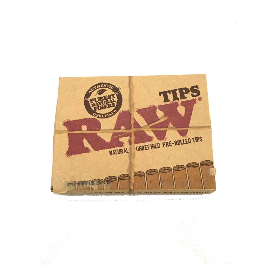 RAW Unbleached Pre-rolled Cone Tips - 21 tips per pack