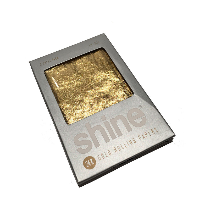 SHINE 24K gold rolling paper - 2 sheets/pack