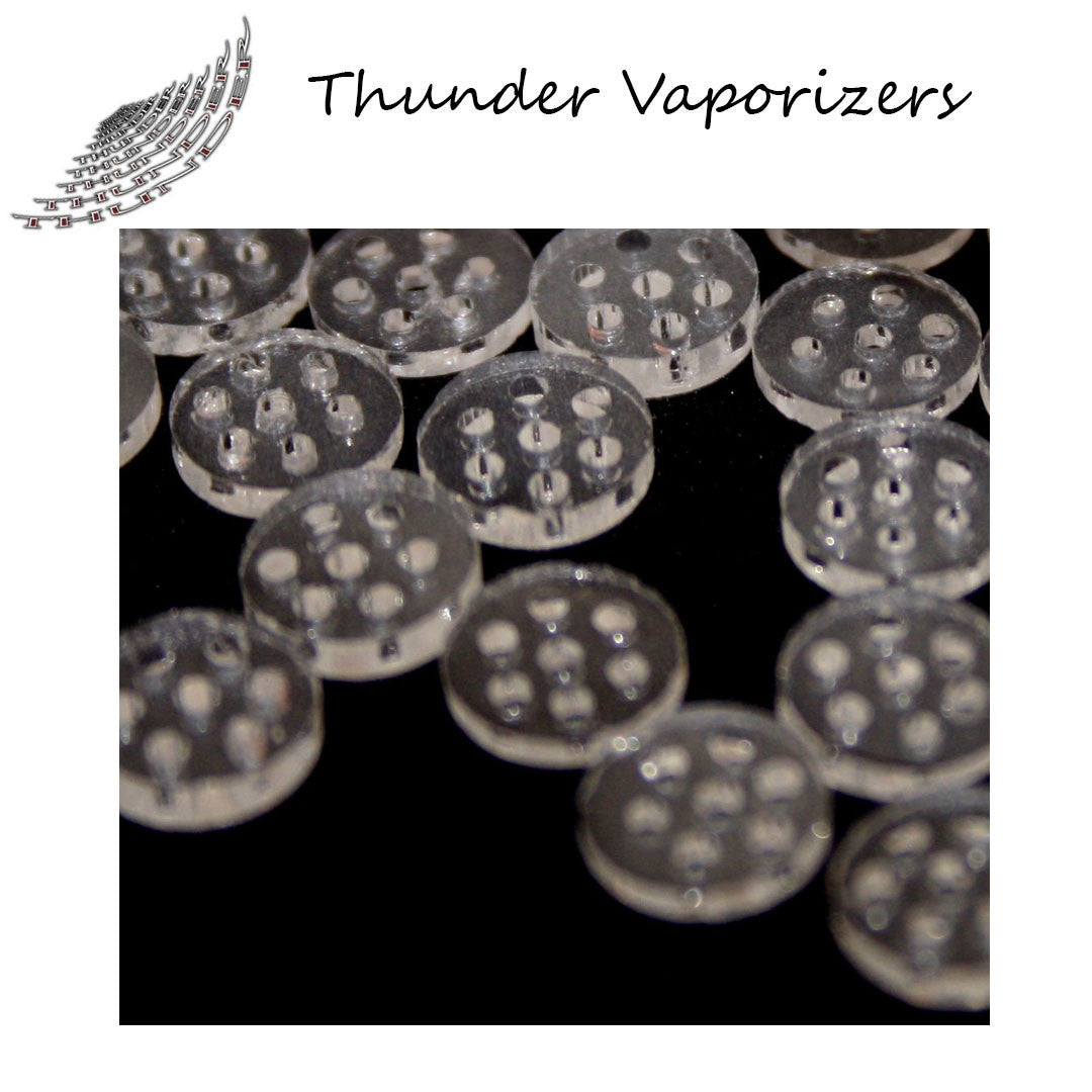 Thunder Vaporizers - Glass Screen Filters  (5 pack)