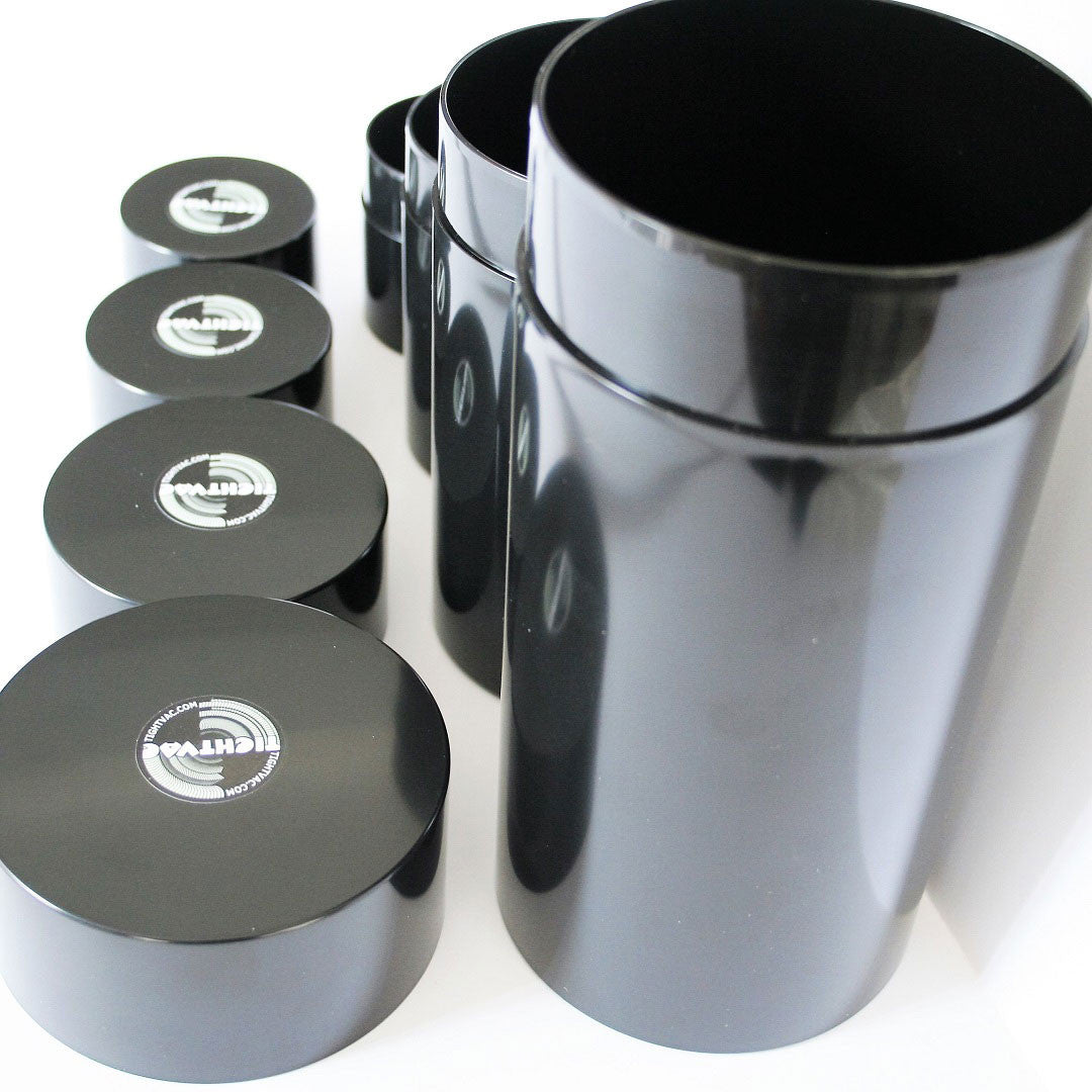 Tight Vac SET of 4 - Odorproof Containers Black