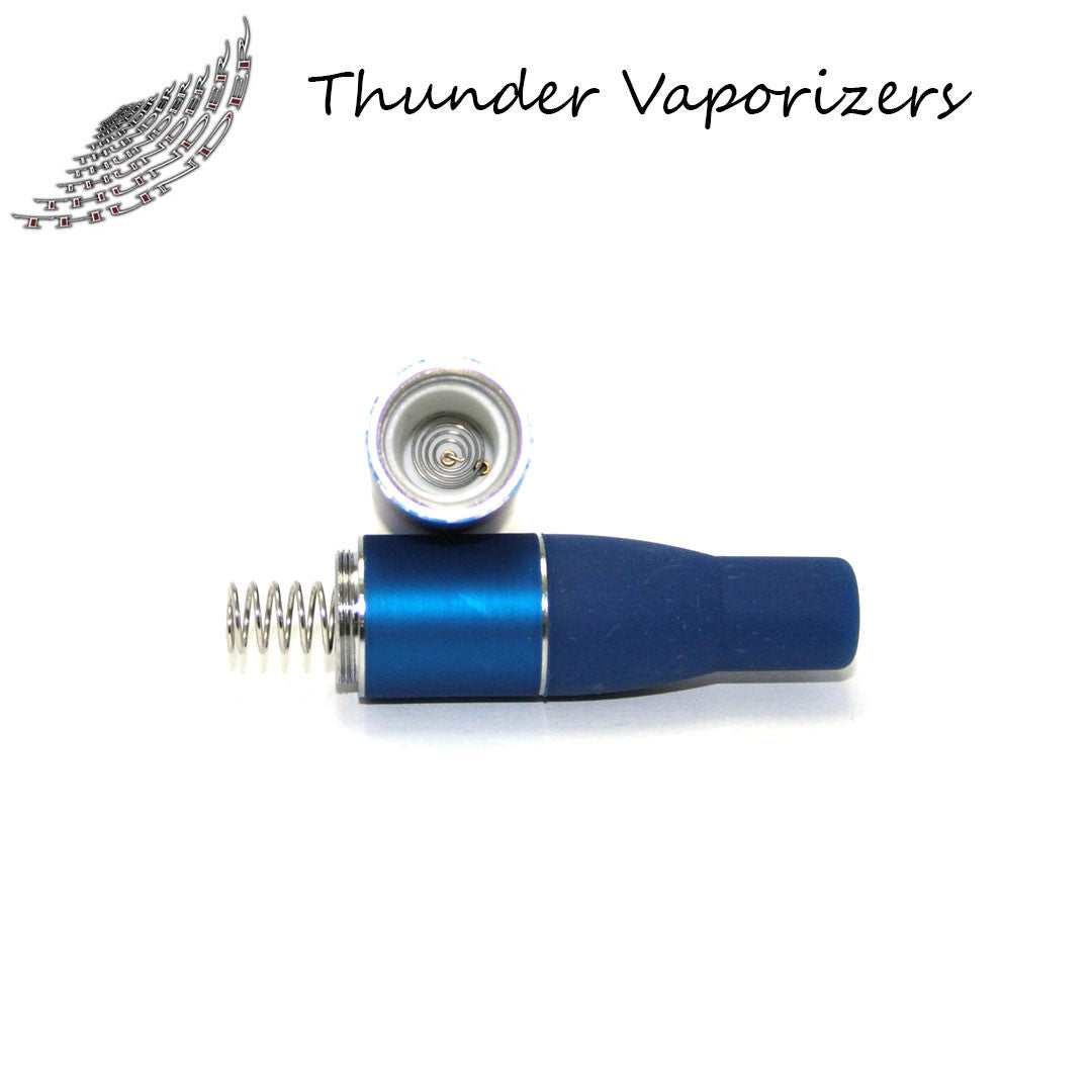 Thunder Vaporizer:  3 in 1 Replacement Heating Coils w/Mouthpiece (5pack-Blue)